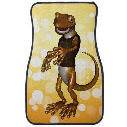 Cute gecko car mat
