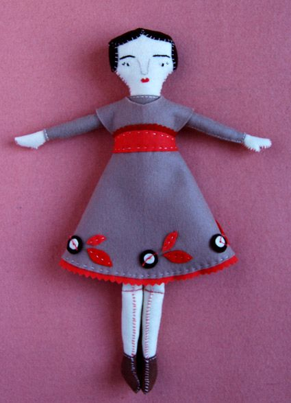 Vintage Rag Doll. Free pattern & tutorial