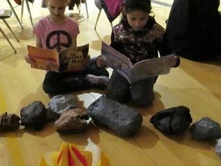 Camping themed family literacy night