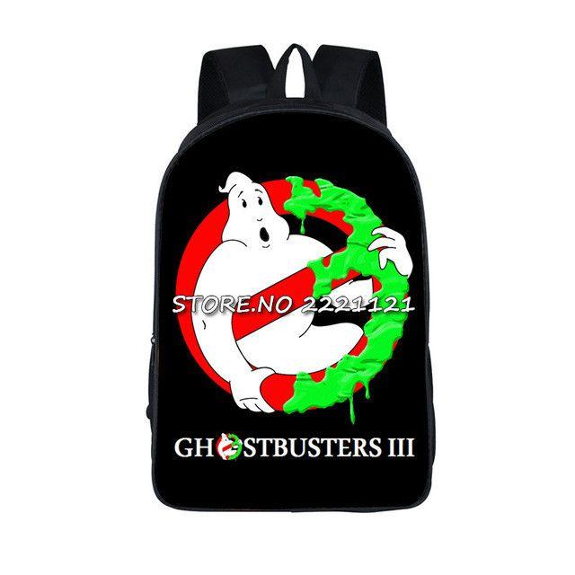 Ghostbusters Backpack Students Bags Children's Book Bag Cartoon Movie Printing School Bags For Teenagers Girls Travel Bagpack