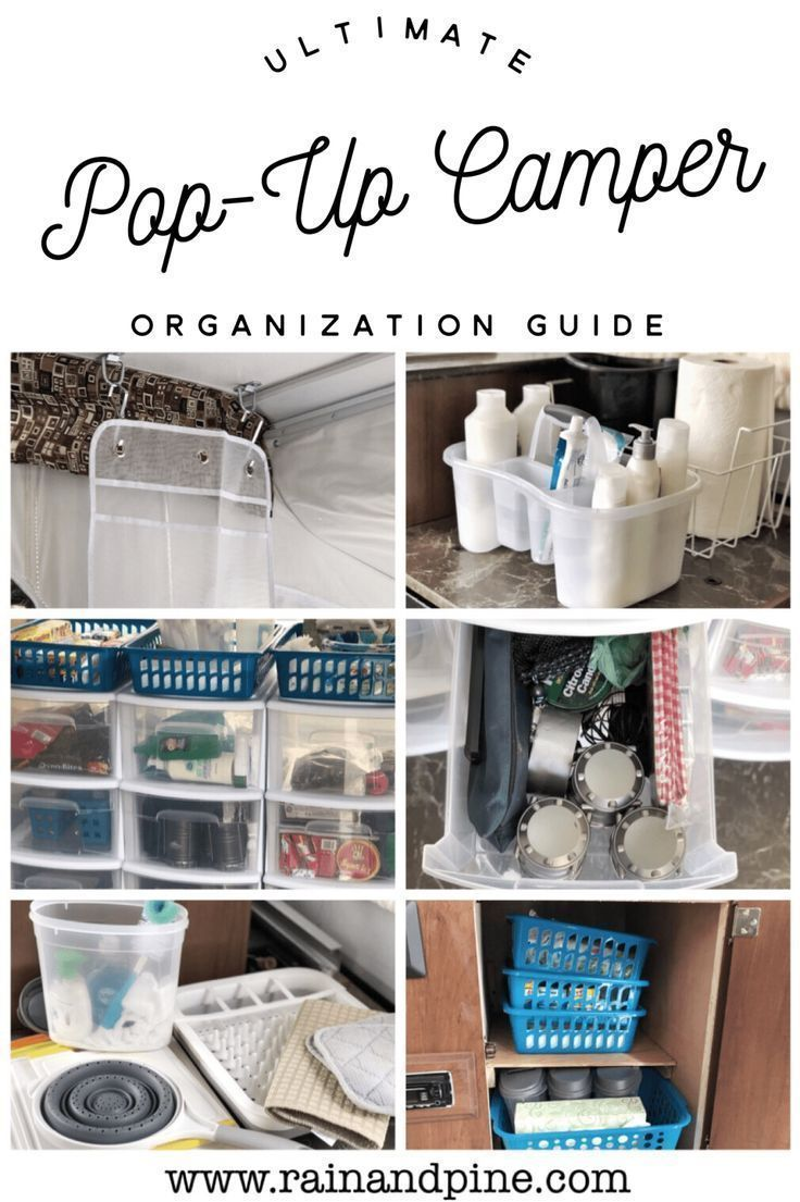 Organizing a Pop-Up Camper {Pop-Up Camping} Plus