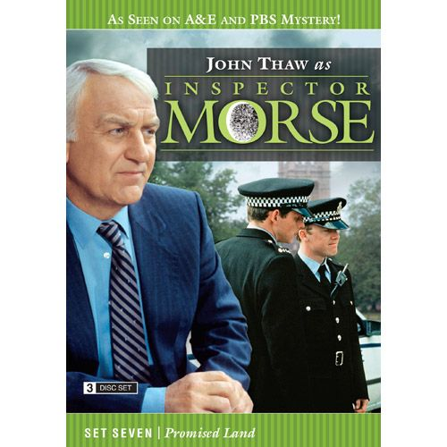 Inspector Morse Set Seven Promised Land DVD he Wolvercote Tongue - A precious jewel is missing and Morse suspects foul play in the death of its owner. Stars Simon Callow and Kenneth Cranham .  Last Seen Wearing - When a privileged schoolgirl goes missing, Morse is convinced she has been murdered, even though there is no body. Stars Elizabeth Hurley and Peter McEnery .  The Settling of the Sun - Morse investigates the murder of a Japanese student in what seems to be a ritual killing. Stars…