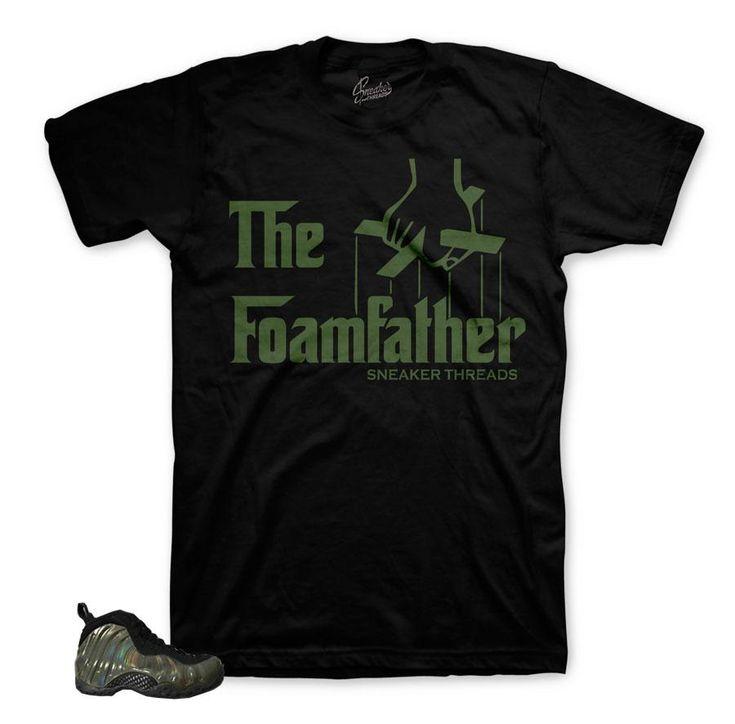 Foamposite Legion Green Shirt - Foam Father - Black
