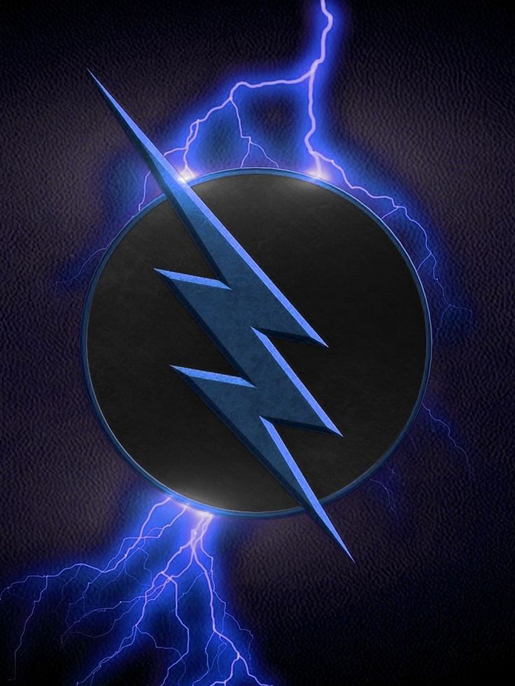 Flash logo in purple/blue Flash wallpaper, Zoom the
