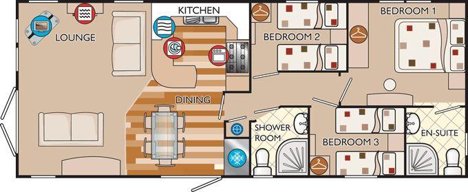 New hampshire classic 40 x 16 3 bed sleeps 6 floor plan for 16x40 cabin floor plans