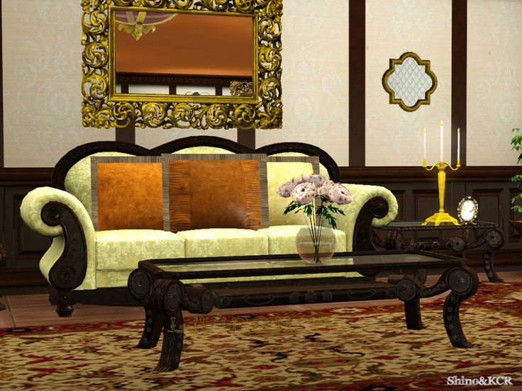 Continuing The French Quarter Series With A Livingroom Found In TSR Category Sims 3 Living Room Sets