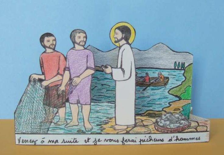 knutselwerkje Jezus roept de vissers Bible craft Jesus calls the fishermen
