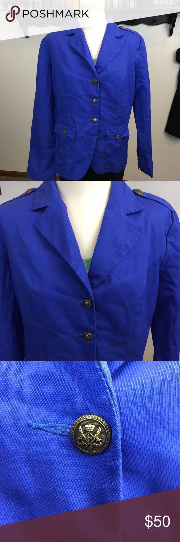 🍁TWIGGY LONDON Cobalt Blue  Blazer Jacket ~Get this royalesque blue blazer! ~Inspired by London fanfare brought to you by #fabulous! ~This features a classic oversized blazer style. ~This has been worn a few times.  This is in good condition! ~Get this now!   ~NO TRADES Twiggy London Jackets & Coats Blazers