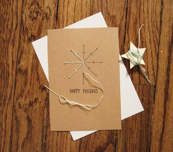 Snowflake holiday card embroidery DIY kit