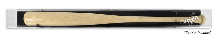 Los Angeles Dodgers Backwards Baseball Bat Logo Display Case