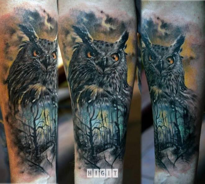 Sowa Nati Nasze Tatuaże Tatuaże Tatuaż I Smoki