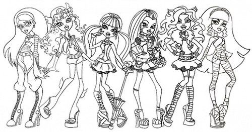 Dibujos De Monster High Para Colorear Monster High Para