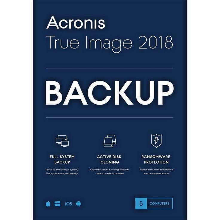 Acronis True Image 2018 5 Computers Win/Mac New 817474011841