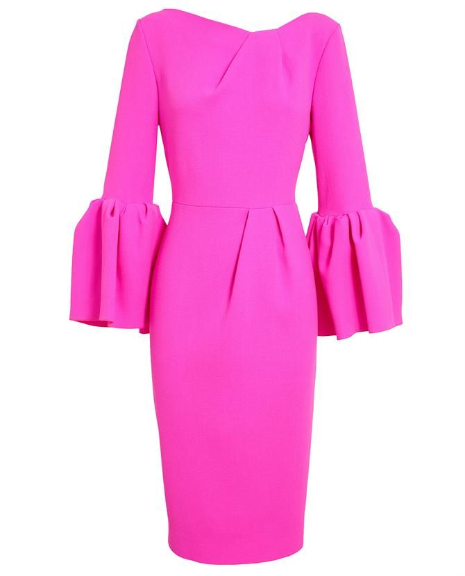 ROKSANDA ILINCIC | Margot Crepe Wool Dress Cool with gloves and pill box hat and pointy toed shoes!