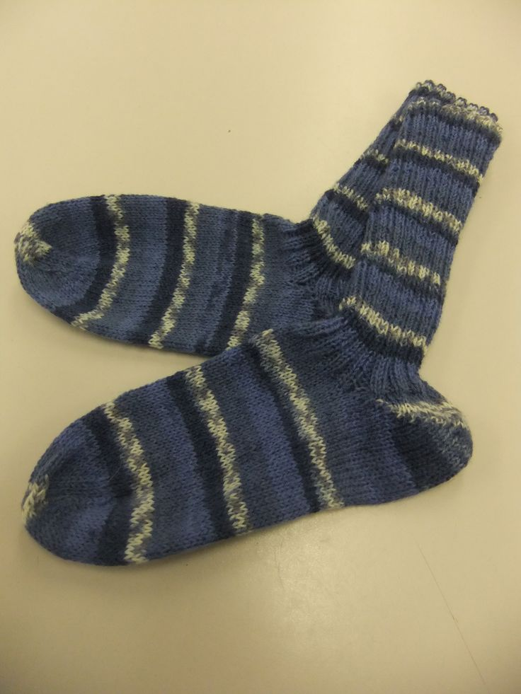 First pair of knitted socks using a circular needle ...