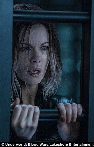 Powerful: But the shift to strong female roles has seen the brunette beauty hit cinemas in movies such as Total Recall, Van Helsing and the Underworld series (pictured) to name a few