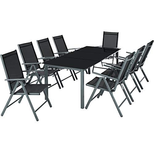 Tectake Aluminium 81 Salon De Jardin Ensemble Sieges Meubles Chaise Table En Verre Diverses Couleurs Avec Images Meubles De Jardin Design Salon De Jardin Table En Verre
