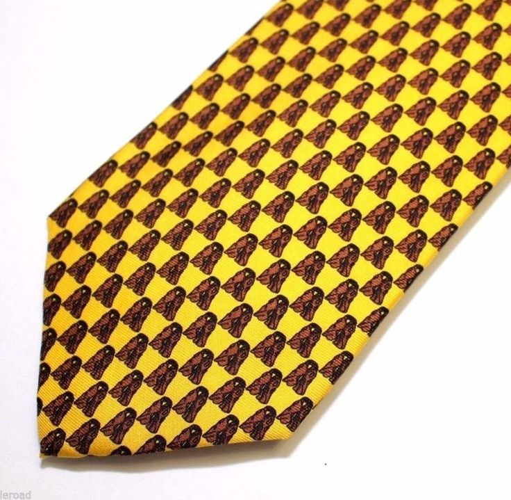 Cacties Western Tie 100% Silk Cowboy Yellow Vests #Cacties #Tie
