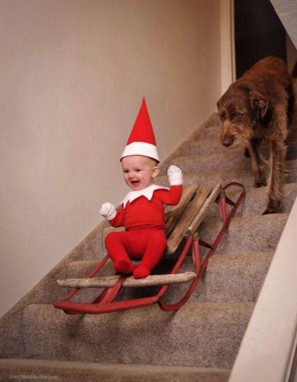 Dad turns baby into real life Elf – 20 Pics