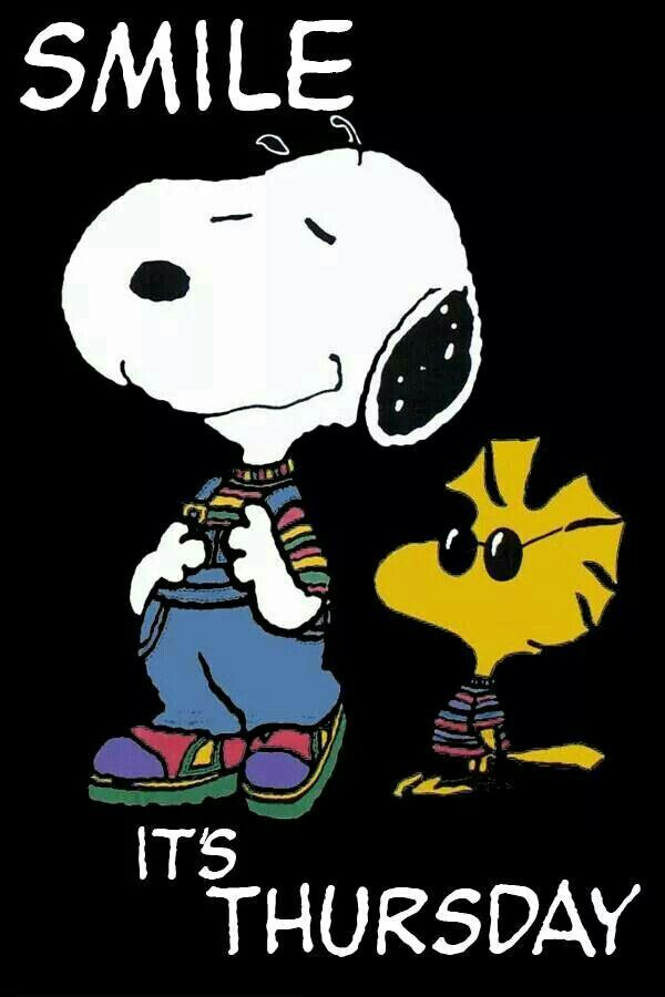 Snoopy and Woodstock wishing you a happy Thursday