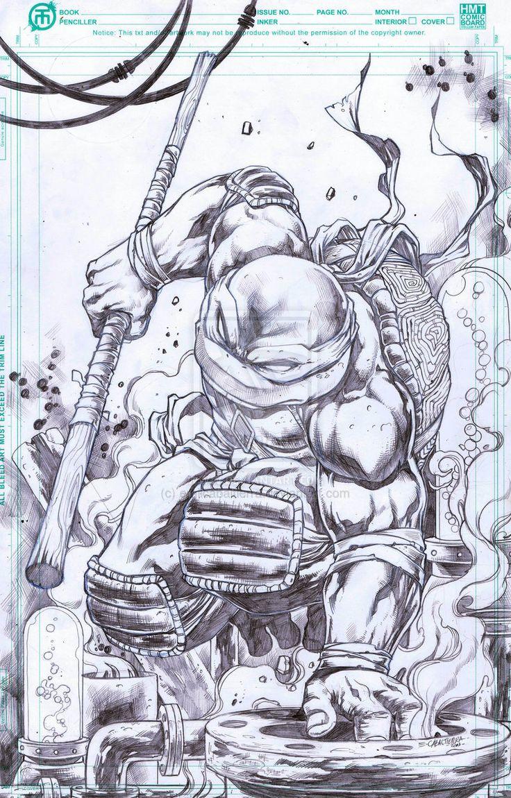 Teenage Mutant Ninja Turtles - Donatello by Emil Cabaltierra