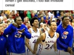When I get excited I too eat invisible cereal-love this