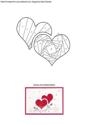 two hearts iris folding pattern iris folding cards pinterest