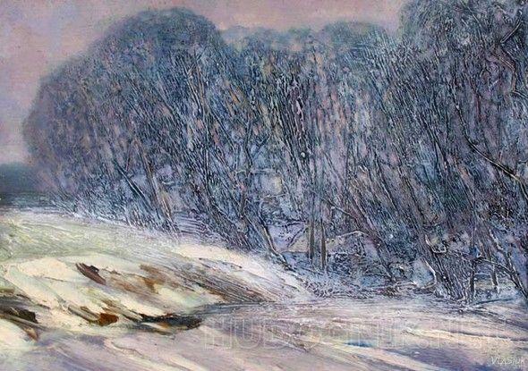 Первый снег Пейзаж зимний