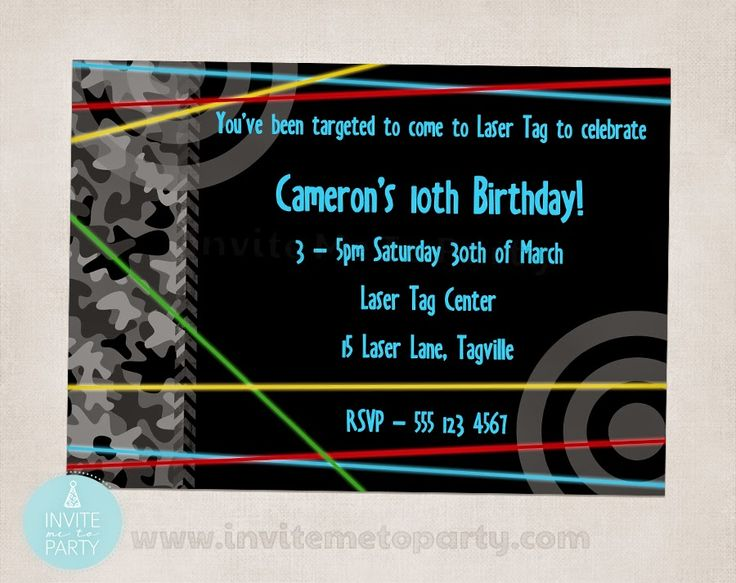 Laser Tag Party / Laser Skirmish Party  Invite Me To Party: Laser Tag Party / Laser Skirmish Party