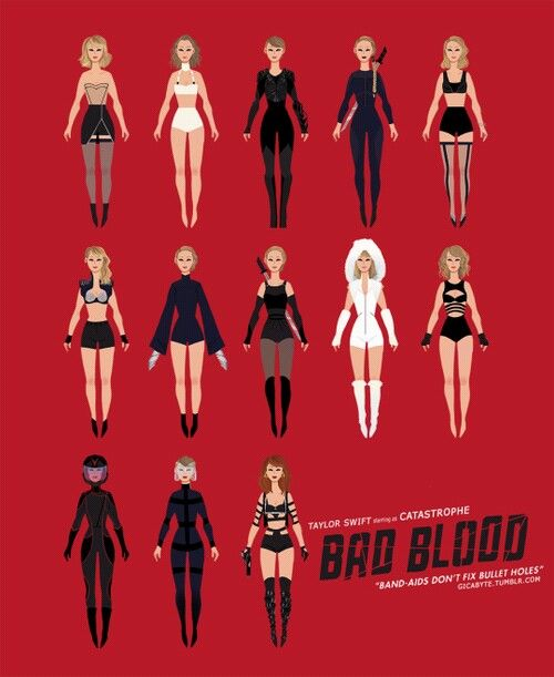 Taylor bad blood costumes....... I have to admit those costumes looked badass