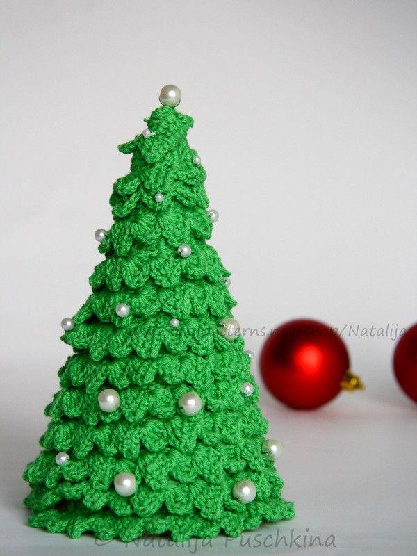 Schnell und leicht - Häkelanleitung für Tisch Tannenbaum