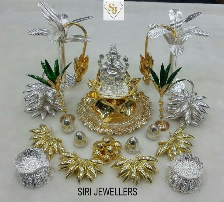 Silver Gifts For Indian Wedding: 232 Best Images About Silver Pooja Items On Pinterest