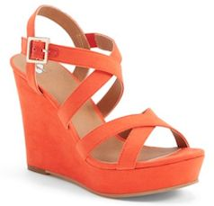 Bright orange wedges