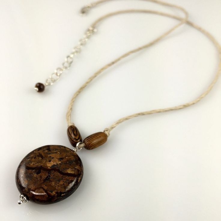 Bronzite Hemp Necklace