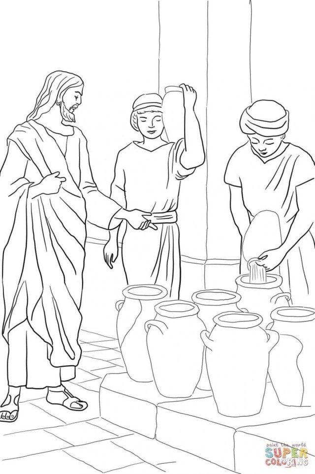 Elegant Photo Of Turn Picture Into Coloring Page Photoshop Water Into Wine Sunday School Coloring Pages Bible Coloring Pages