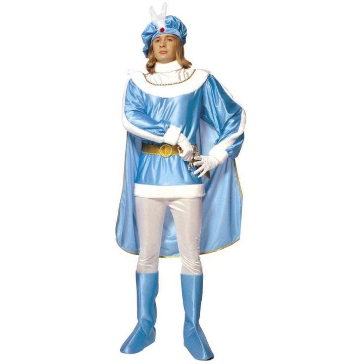 Adliger+Blauer+Prinz+Mittelalter+Kostüm+