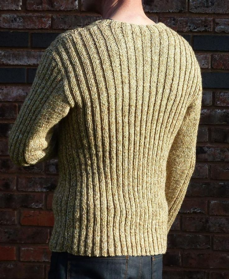 """An easy-to-wear sweater that moulds itself to the body.The relaxed round neck makes this a sweater that is easy to slip on and off.Worked in 2x2 rib on 7 (4.5mm) needles and using aran-weight or heavy worsted yarn, the sweater grows quickly, and the rib stitch creates plenty of elasticity, which will result in a good fit.Two inches of negative ease are included in each size (for example, the finished 38"""" sweater actually measures 36"""" across the chest). For more extreme negative ease..."""