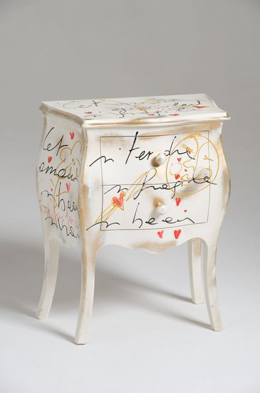 Oltre 25 fantastiche idee su mobili colorati su pinterest mobili funky tecniche di pittura e - Rivestire mobili ...