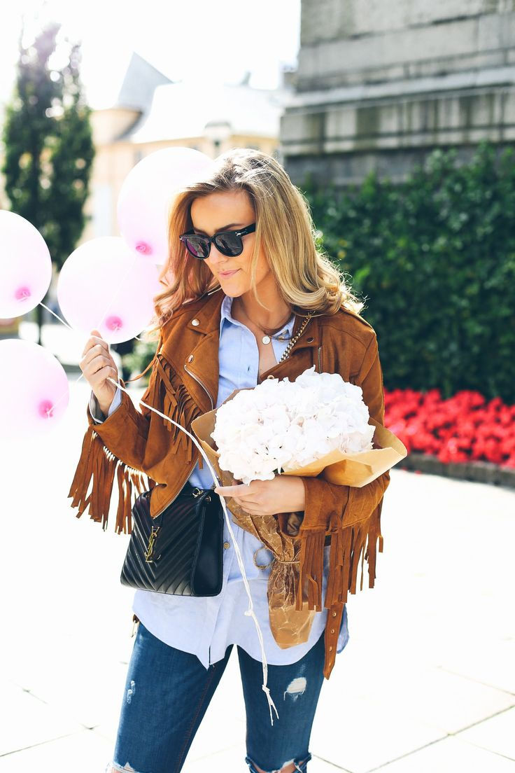 Jeans: Zara Jacket: Missguided Shirt: By Malene Birger Sunnies: Céline Bag: YSL · A day to remember· Bursdagsfeiring, fine venner, ballonger, pizza, blomster, latter, smil og gaver. Bursdagen min for rundt ett år siden ble tilden beste dagenjeg noen gang kunne forestilt meg. Først en nydelig brunch venner, etterfulgt av surpriseparty med enda flere. Jeg …