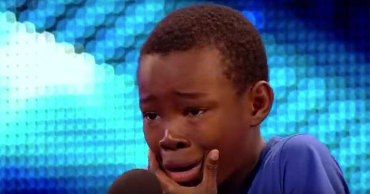 Den 9-årige bryder sammen under sin audition. Men så forbløffer han alle...