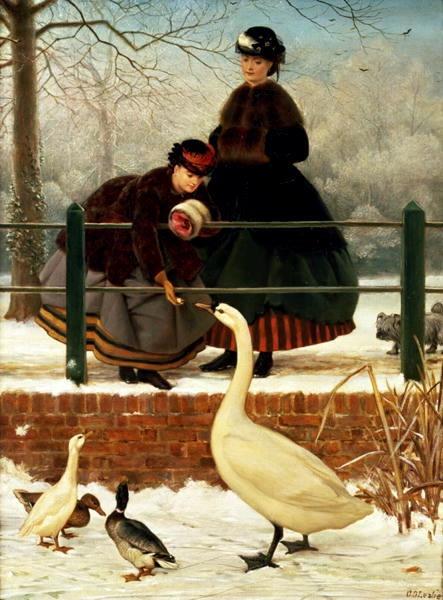 .: Victorian Art, Winter Walks, Leslie 1835 1921, Art Collection, Leslie 18351921, Frozen, Art Galleries, George Dunlop, Dunlop Leslie