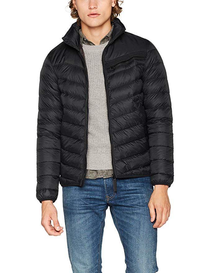 ac8fae099 G-STAR RAW Men's Attacc Down JKT Jacket, (Black 990), Small ...