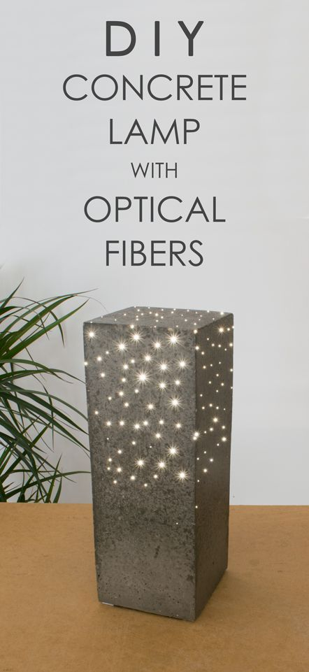 This solid concrete lamp contains about 300 optical fibers, which guide the light from the LED light source on the bottom to the polished concrete surface. It gives a great atmosphere and a special character to the room where it is placed. In daylight it is a beautiful polished concrete object, but in the dark it lights up like a starry sky. #ConcreteLamp