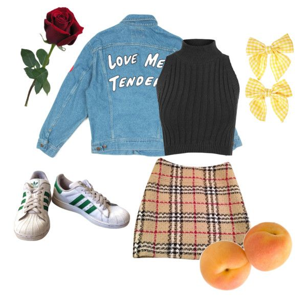 Just Picked by van-gogh-kid on Polyvore featuring polyvore, fashion, style, WearAll, Burberry, adidas, Clips and clothing