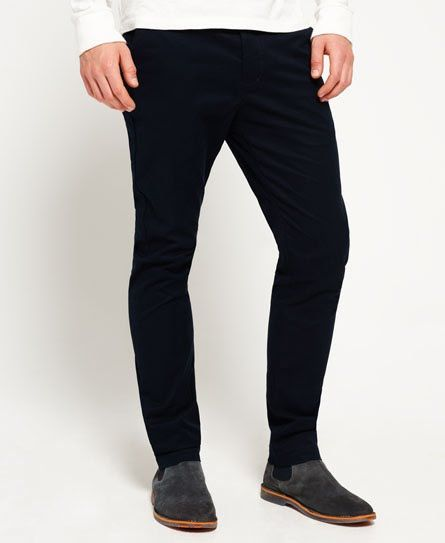 Superdry City Slim Chino Trousers Navy