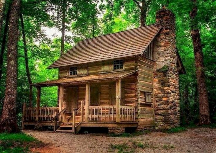 70 Fantastic Small Log Cabin Homes Design Ideas (37