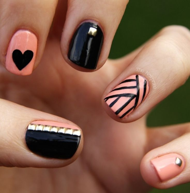 I like the cross-sectioning on the one nail, will probably change colors and designs on ther nails