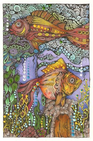 Animals, Birds & Fishes from annsdoodles.com It's a 'must see' site, such talent.... and beauty!