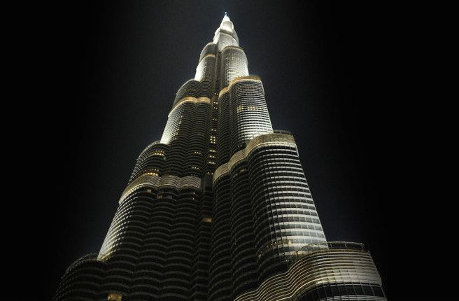 Soaring high above Downtown Dubai in the iconic Burj Khalifa, the world's tallest building, #ArmaniHotel Dubai