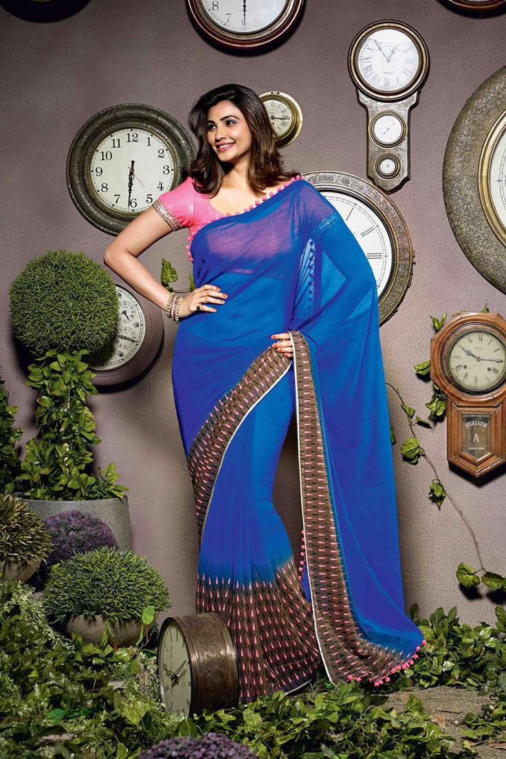 Daisy Shah Party Wear Georgette Saree - $41.14